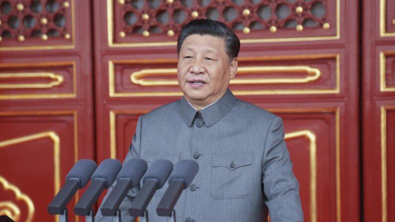 중국 공산당 창당 100주년 기념식에서 연설하는 시진핑 국가 주석 겸 공산당 중앙위원회 총서기   신화/연합