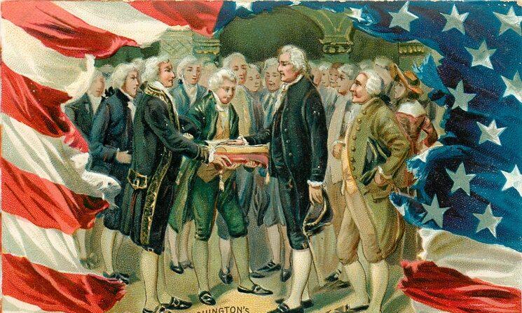 미국 초대 대통령 취임을 기념하는 엽서   위키피디아