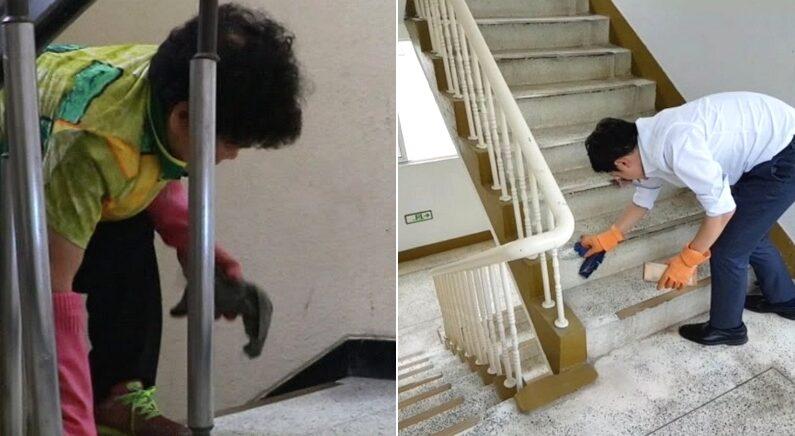 계단 닦다 숨진 아파트 청소미화원 할머니 위해 변호사가 직접 해본 것