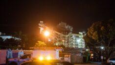 미 플로리다 붕괴 참사 아파트 남은 부분 철거