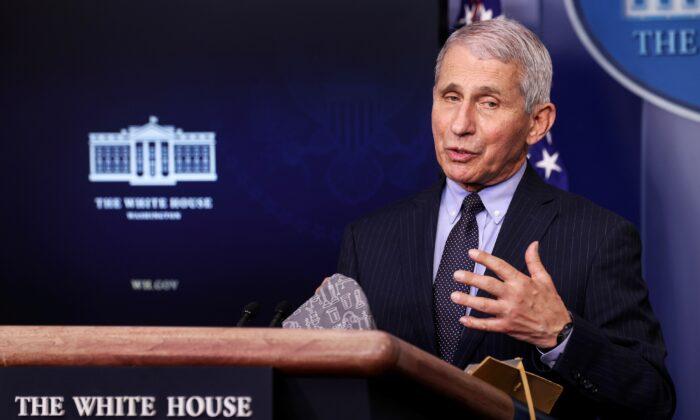 미국 백악관 수석 의료고문인 앤서니 파우치 국립알레르기·전염병연구소 소장. 2021.1.21 | Jonathan Ernst/Reuters/ 연합