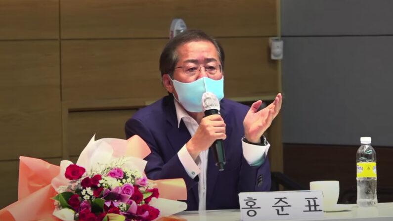 발언하는 홍준표 의원 모습 | 홍카콜라 유튜브 캡처