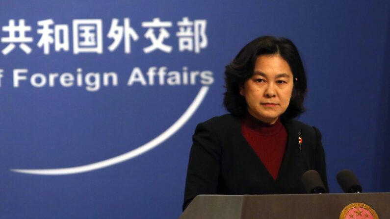화춘잉 중국 외교부 대변인 | 베이징 UPI/연합