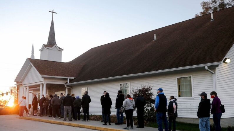 미국 아이오와주 디모인의 한 교회.   AFP/연합뉴스