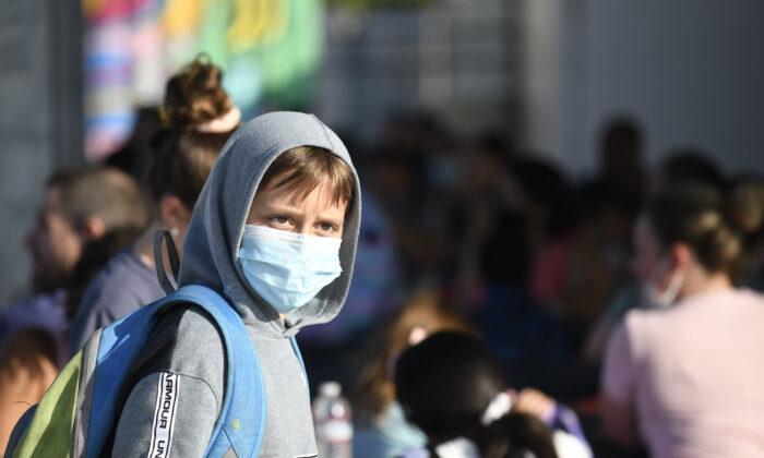 미국 캘리포니아의 한 초등학교 학생이 마스크를 착용하고 있다. 2021.7.21 | Denis Poroy/AP/연합