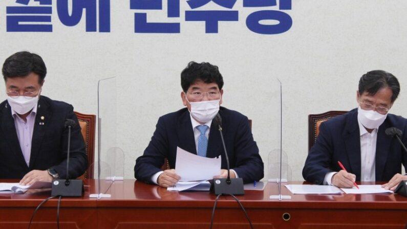 더불어민주당 정책조정회의 모습l 박완주 의원실 제공