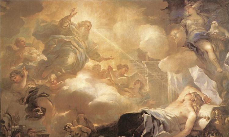 '솔로몬의 꿈', 루카 조르다노(Luca Giordano·1634∼1705), 1693년경 작품, 캔버스에 유화, 245×361cm, 스페인 마드리드 프라도 미술관 소장 | 퍼블릭 도메인