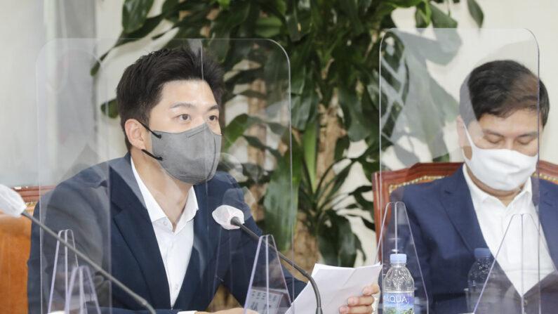 6일 오전 국민의힘 김용태 최고위원이 최고위원회의에서 발언하고 있다.ㅣ국민의힘 제공