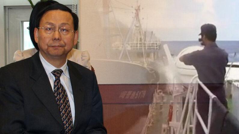 서해 상에서 중국어선 나포작전 도중 해양경찰관이 중국 선원의 흉기에 찔려 사망한 사건과 관련, 외교부 초치를 받고 굳은 표정을 짓고 있는 장씬선 당시 중국 대사. | 연합뉴스