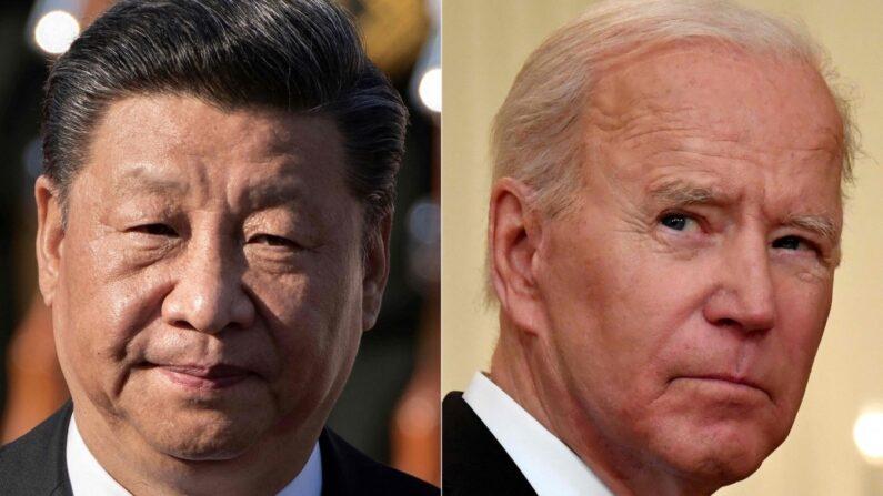 시진핑 중국 공산당 총서기(좌)와 조 바이든 미국 대통령(우)   AFP/연합뉴스