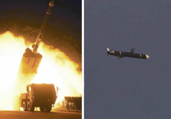 북한이 11일, 12일 두 차례 발사한 신형 장거리 순항미사일 사진ㅣ로동신문 캡처