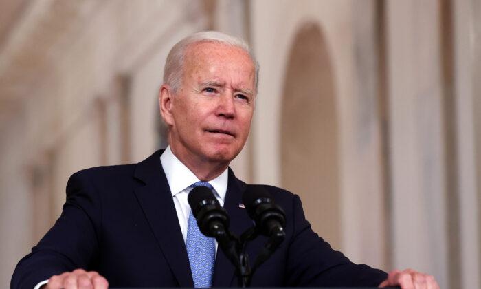 조 바이든 미국 대통령. 2021.8.31   Carlos Barria/Reuters/연합