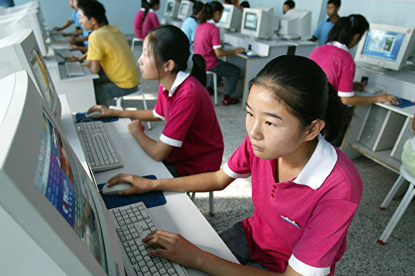 중국의 한 고등학교 컴퓨터 실습실 | FREDERIC J. BROWN/AFP/Getty Images/연합