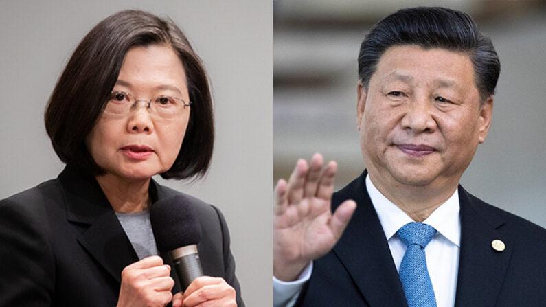 차이잉원 대만 총통{좌), 시진핑 중국 공산당 총서기(우) | 에포크타임스; 로이터/연합