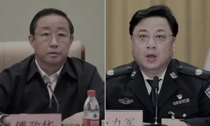 푸정화 중국 전국인민협상회의(정협) 사법·법제위원회 부주임(좌)  쑨리쥔 전 공안부 부부장 | 바이두
