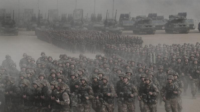 중국 공산당 인민해방군 중부전구의 '군사훈련 동원대회'   신화통신/연합
