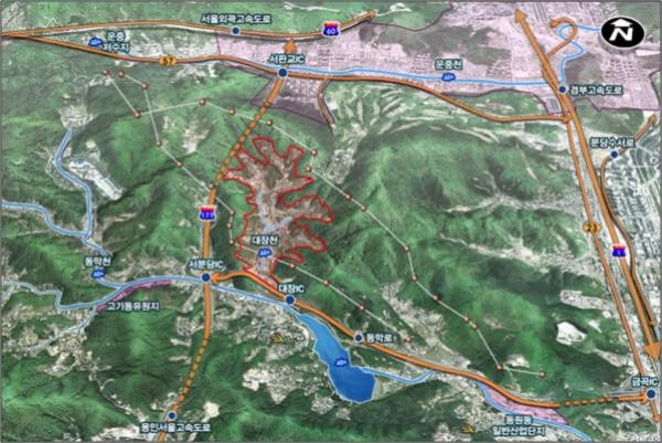 경기도 성남시 분당구 대장동 지역 위치도ㅣ성남시청 제공