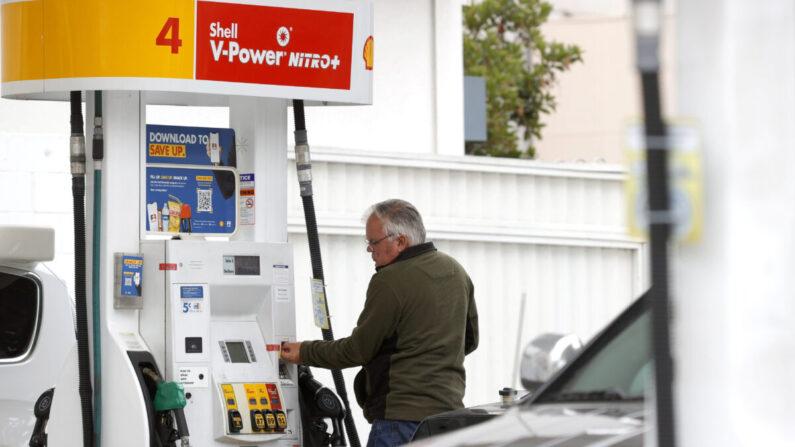 미국 캘리포니아 샌프란시스코의 한 주유소   Justin Sullivan/Getty Images