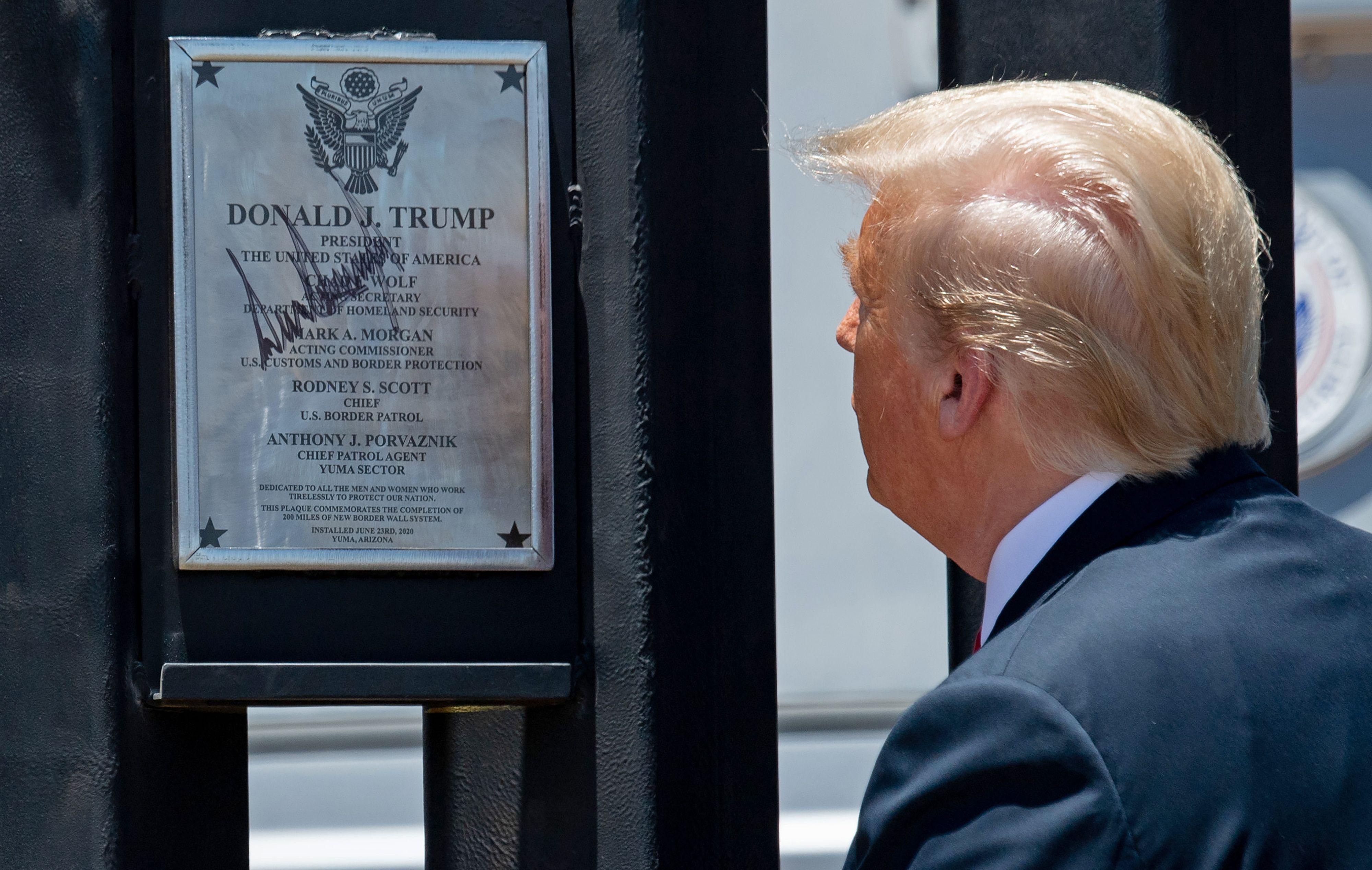 Trump border wall signing