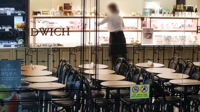 거리두기 2.5단계를 적용받는 서울의 한 프랜차이즈 제과제빵점| 연합뉴스 자료사진