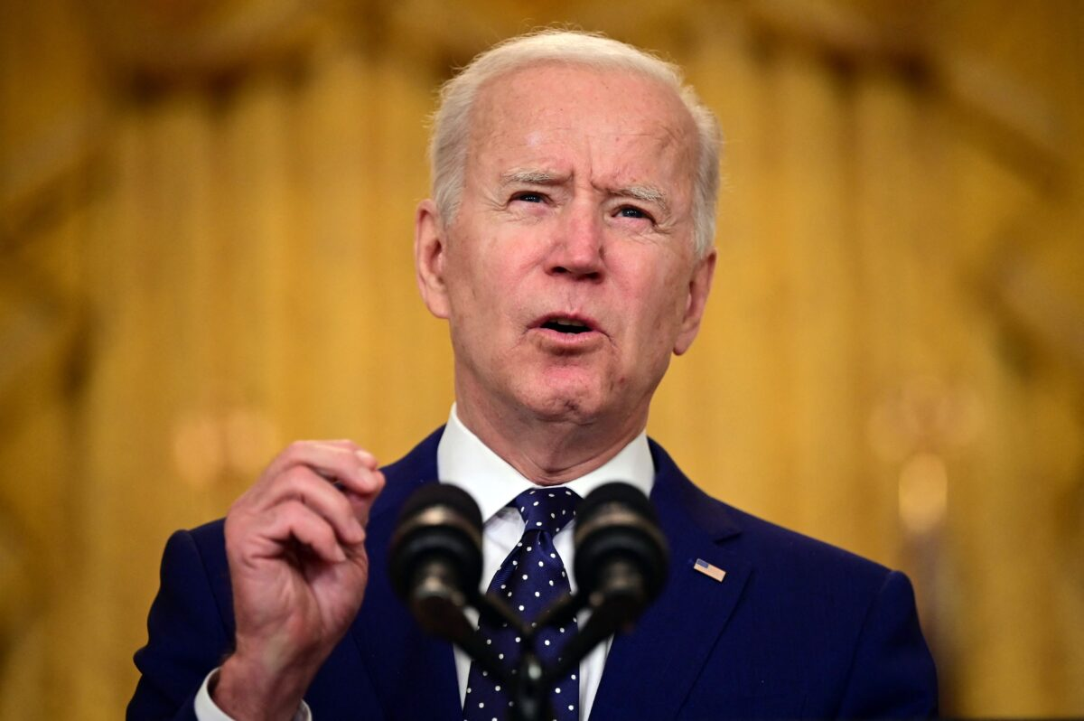 U.S. President Joe Biden delivers remarks