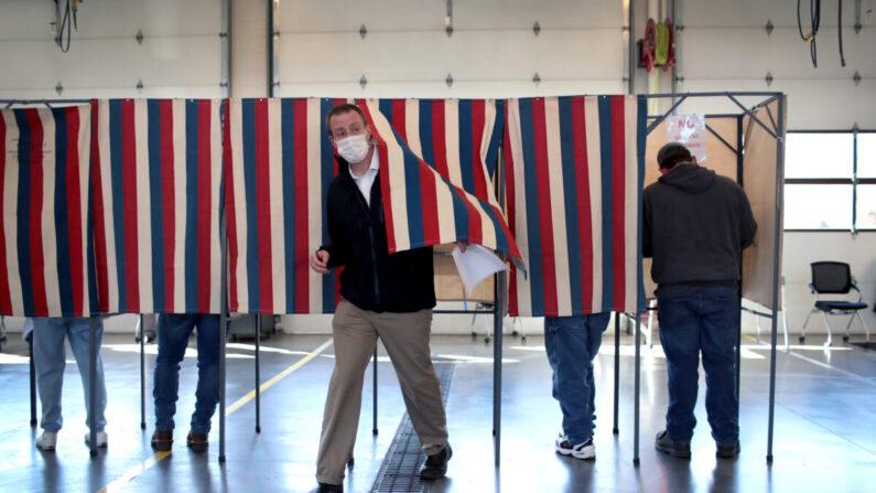 작년 11월 미국 대선 당시 위스콘신 벨로이트의 한 투표소   Scott Olson/Getty Images