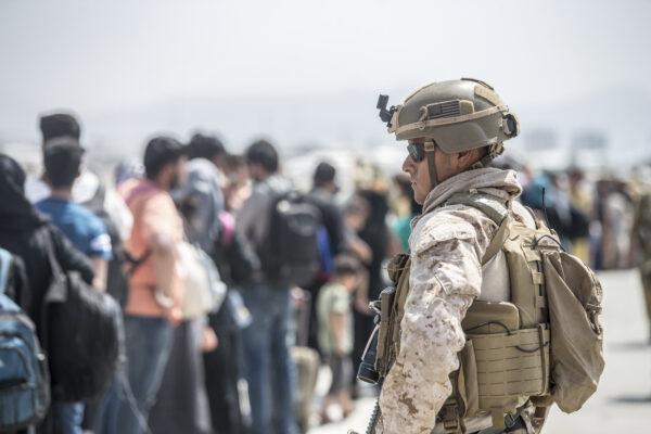 Marine in Kabul