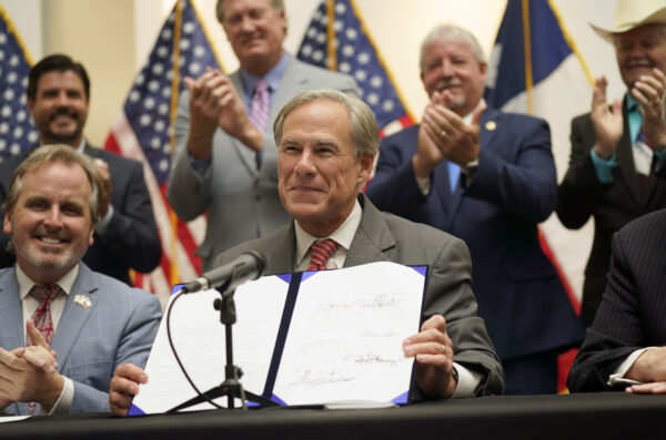 Abbott shows off election integrity bill